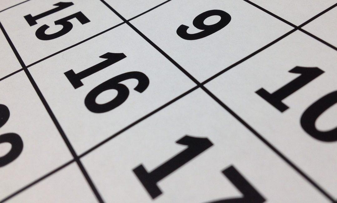 Calendario escolar para 2018/2019