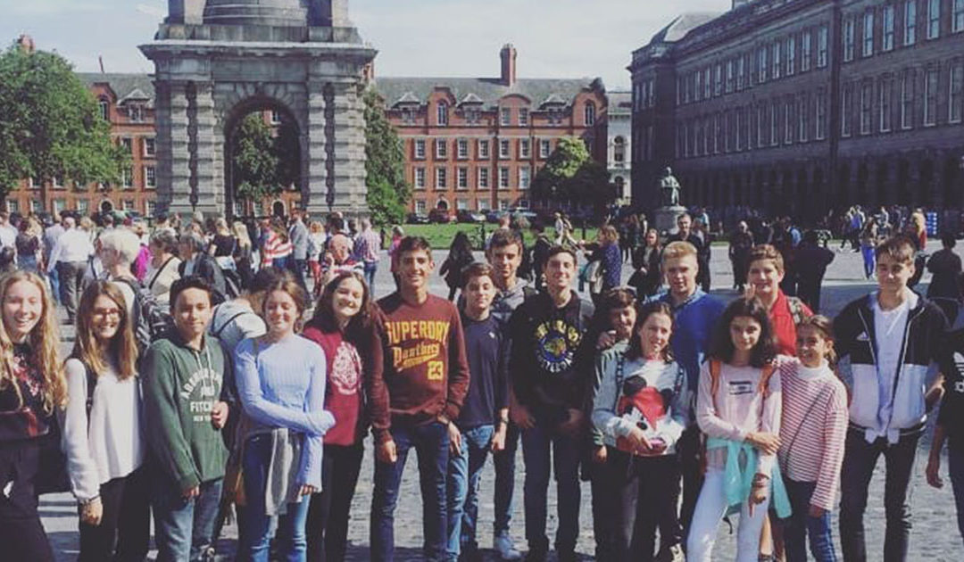 Students learning English in Ireland